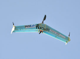 Delftse dubbeldekkerdrone met één propeller