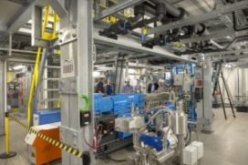 Nieuwe modulair opgebouwde proeffabriek nieuwe plastics