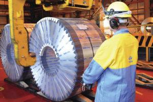 Volautomatisch rollen staal opslaan