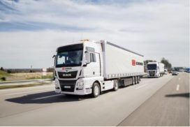 Vrachtwagenfabrikant Man investeert in platooning