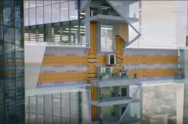 Futuristische lift kan zowel horizontaal als verticaal bewegen