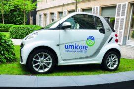 Umicore investeert in productie kathodematerialen voor elektrische auto's