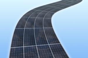 Zonnecellen op grote schaal in infrastructuur en wegen