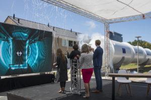 Hyperloop kan op hoge snelheid van route wisselen