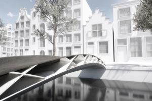 Eerste 3D-geprinte lichtgewicht voetgangersbrug