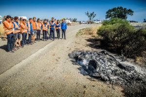 Delftse zonnewagen in vlammen op laatste racedag World Solar Challenge